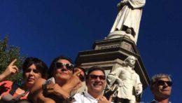 Caccia al Tesoro con iPad per team building interattivi 2.0 city game da Vinci codex Leonardo statua