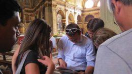 Caccia al Tesoro con iPad per team building interattivi 2.0 city game da Vinci codex prospettiva Bramante