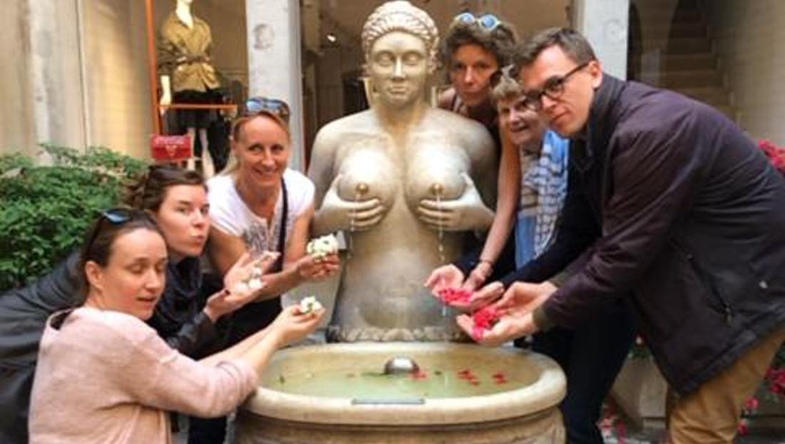 Caccia al Tesoro con iPad per team building interattivi 2.0 fontana delle tette conquering Treviso