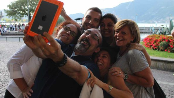 City Game Team selfie conquering il Lago di Iseo